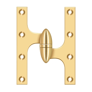 Deltana OK6045B26D-L Solid Brass 6-Inch x 4 1//2-Inch Olive Knuckle Hinge